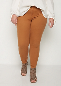 Plus Camel Soft Mid Rise Jegging