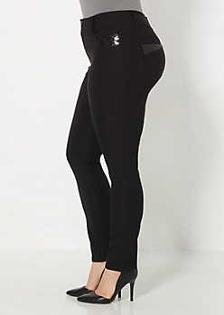 Plus Sequined Better Booty Stretch Skinny Pant