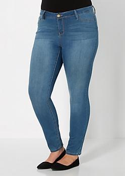 Plus Brushed Vintage Skinny Jean
