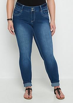 Plus Flex Sandblasted Skinny Jean