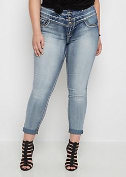 Plus Freedom Flex Washed High Waist Skinny Jean