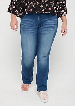 Plus Sandblasted Bootcut Jean