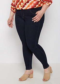 Plus Dark Blue Jegging in Curvy