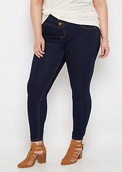 Plus Flex Dark High Waist Jegging in Short