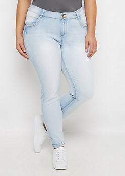 Plus Flex Extreme Faded Jegging in Short
