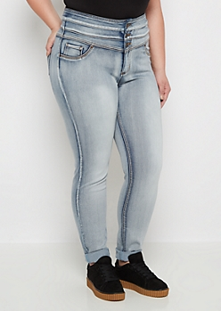 Plus Flex Heavy Wash High Waist Jegging