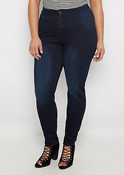 Plus Flex Dark Blue High Waist Skinny Jean