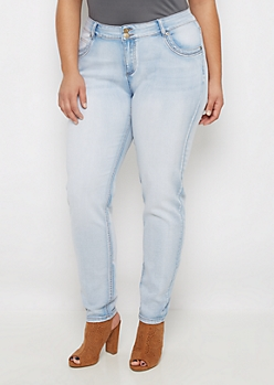 Plus Flex Extreme Faded Skinny Jean in Short
