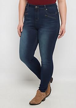 Plus Better Butt Flex Zipped Jegging