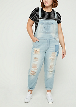 Plus Destroyed & Patched Vintage Overall