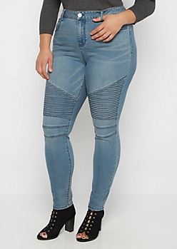 Plus Flex High Waist Moto Skinny Jean