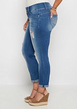 Plus Better Butt Cropped Skinny Jean