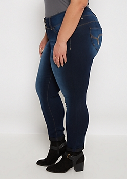 Plus Sandblasted Better Butt Ankle Jean