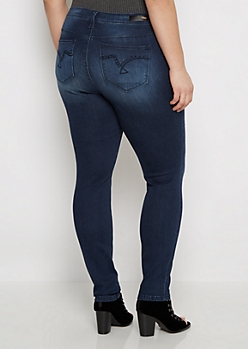 Plus Stone Pocket Skinny Jean