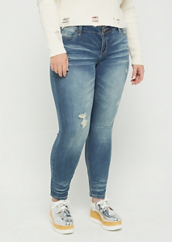 Plus Vintage Distressed Soft Skinny Jean in Regular