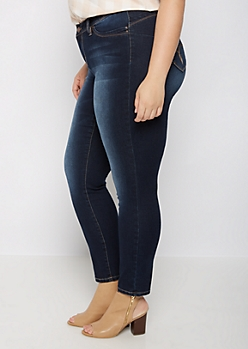 Plus Sandblasted Better Butt Skinny Jean