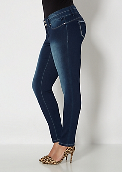Plus Brushed & Blasted Better Booty Skinny Jean