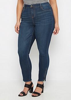 Plus Flex High Waist Zip Ankle Skinny Jean
