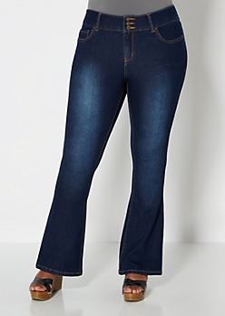 Plus 3-Shank Sandblasted Boot Jean