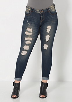 Plus Superluxe Ripped Skinny Jean