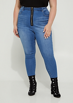 Plus Zipped Xtra High Rise Jeggings