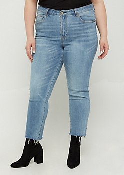 Plus Vintage High Rise Ankle Straight Jean