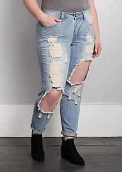 Plus Vintage Blown Out Skinny Jean