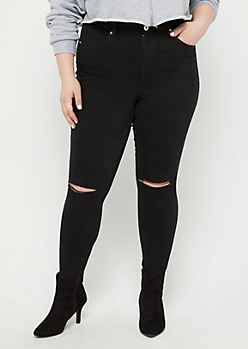 Plus Black Xtra High Rise Skinny Jean