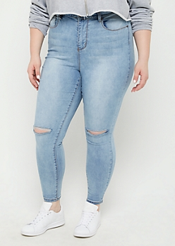 Plus Medium Blue Xtra High Rise Skinny Jean