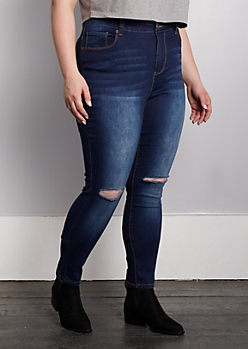 Plus Dark Blue Xtra High Rise Skinny Jean