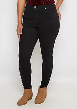 Plus Flex Black High Waist Jegging