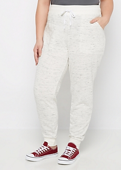 Plus Marled Ribbed Cuff Jogger