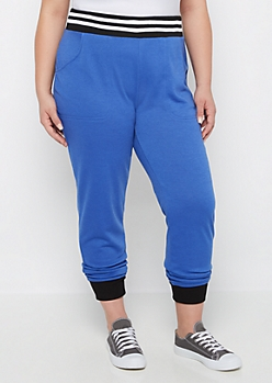 Plus Blue Soft Knit Jogger
