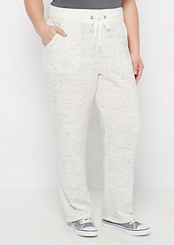 Plus Marled Flared Jogger