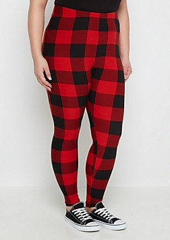 Plus Buffalo Check Legging
