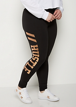 Plus Hustle Foiled High Rise Legging