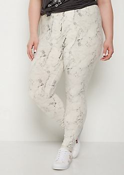 Plus Marbled High Rise Legging