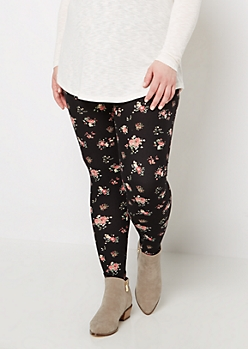 Plus Peony Bouquet Soft Brushed Legging