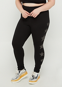 Plus Foiled Star High Rise Legging