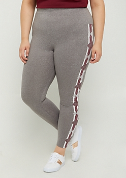 Plus Chevron Streak High Rise Legging