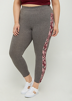 Plus Geo Aztec High Rise Legging