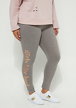 Plus Girls Bite Back Foiled High Rise Legging