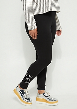 Girls Bite Back Black High-Rise Legging