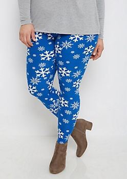 Plus Snowflake Wonderland Brushed Legging