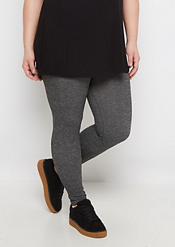 Plus Marled Charcoal Soft Legging