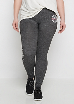 Plus No Limits Emblem Marled Legging