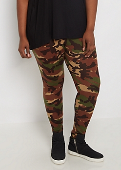 Plus Camo Soft Wide Band Legging
