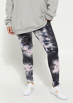 Plus Pink Tie Dye Soft Knit Leggings