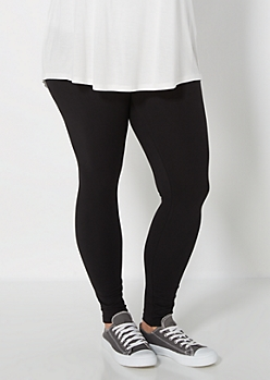 Plus Black Soft Brushed High Waist Legging