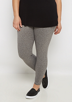 Plus Charcoal Soft Brushed High Waist Legging